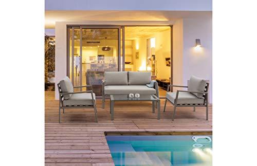 Andrea Bizzotto s.p.a. Salotto Set Koral in Alluminio da Giardino per Esterno Divano POLTRONE...