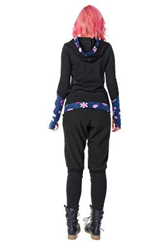Winter Kapuzenpullover Hoodie Damen schwarz Herbst Kleidung Daumenloch Mode 3 Elfen Kapuzenpulli Frauen schwarz pink Lady XS - 5