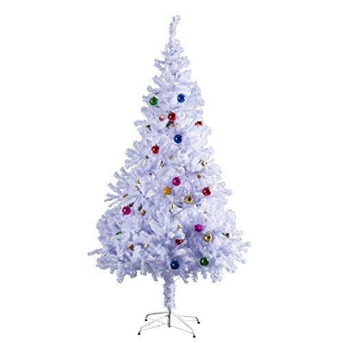 Outsunny HomCom Albero di Natale 150 cm con 680 Rami Addobbato, Bianco