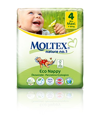 Ecological disposable Nappies Maxi 7-18kg, 37layers by Moltex