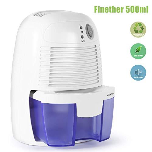 ZIHENGUO Deshumidificador Ultra Silencioso Portátil Mini Deshumidificador Eléctrico Purificador De Aire Bajo Consumo De Energía para Condensación (500ML)