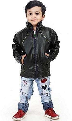 IAC Kids Leather Jacket for Winter Good Looking Black