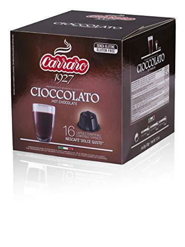 Caffè Carraro, selezione Cioccolato Carraro, Compatibili Dolce Gusto, 6 Astucci da 16 Capsule: 96 Capsule