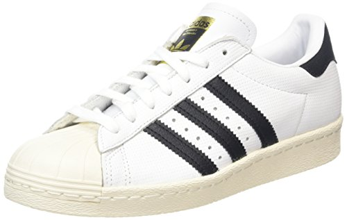 adidas Superstar 80s, Scarpe sportive Uomo, Running White / Trace Blue / Grey, 38 EU
