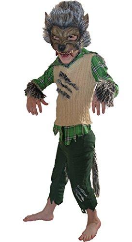 Disfraces Traje de Halloween de hombre lobo Werewolf 4-5 años