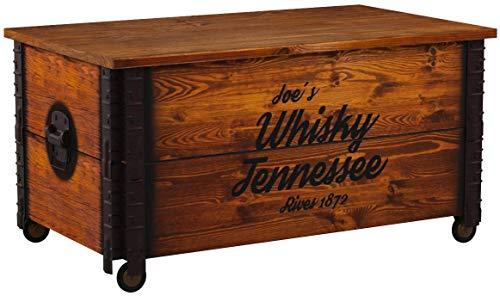 Uncle Joe's - Tavolino basso, effetto baule, in legno, stile Vintage Shabby Chic, in legno...