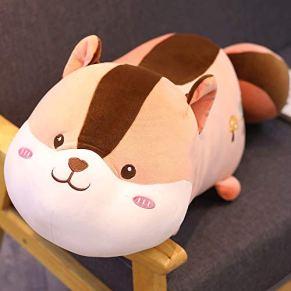 Juguete de peluche Creativo único hámster relleno de algodón juguete de felpa niña niño abrazo sofá cojín lindo animal de dibujos animados decoración del hogar cojín Apto para niños y adultos.