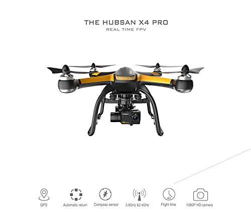 Zantec Drone RC Hubsan X4 PRO H109S 5.8G FPV RC Drone con videocamera HD 1080P 3 Assi Gimbal GPS...