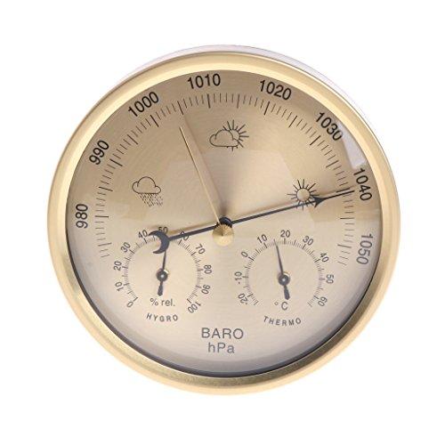 Besttse 12,7cm barometro termometro igrometro da Parete casa Stazione Meteo