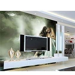 Photo 3D Papier Peint Nude Fille Fond Peinture À L'huile Chambres Chambre Tv Fond Papier Peint Murale (W)500x(H)280cm