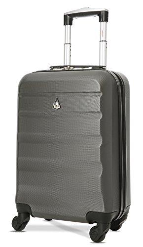 Trolley Aerolite ABS - bagaglio a mano 55x35x20 cm - Valigia rigida, guscio duro e antigraffio con 4...