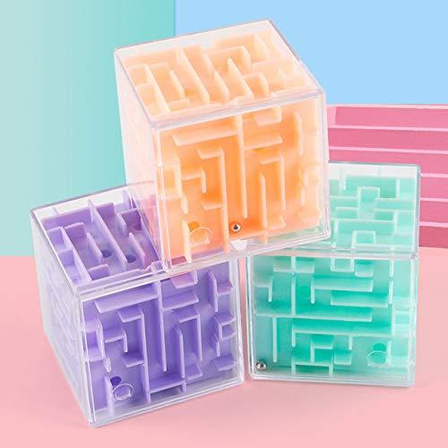 Cubo di Pudincoco 3D Maze Ball Rotation Cube Velocità professionale Cubo puzzle con adesivi Bambini...