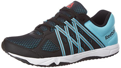 Reebok Women's Meteoric Run Black, Crisp Blue, Coal and Wht Running Shoes - 6 UK/India (39 EU)(8.5 US)