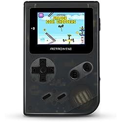 Handheld Spielkonsole, Anbernic retro - mini - konsole entfernen system 2 zoll hd - bildschirm 548 klassische entfernen spiele, geschenke für kinder (schwarz)