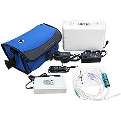 ECO-WORTHY portátil Oxígeno konzentrator Generador de oxígeno konzentrator – Dispositivo de oxígeno Generador de oxígeno para uso doméstico 220V
