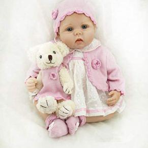 OYESY Realista Reborn Bebé Muñeca Vinilo Silicona Muñecos Renacido Muchacha 55 cm Bebe Reborn Babys Niña 22 Pulgadas Niños Juguete