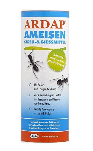 ARDAP Ameisen Streu- und Gießmittel - Insektizid Granulat mit Sofortwirkung für die Bekämpfung von Ameisen, Ameisenstraßen & Ameisennester - 1 x 500 g