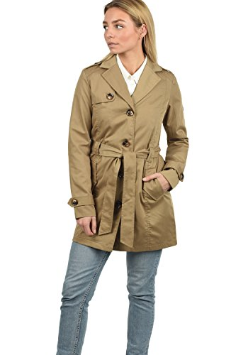 Desires Tessa Giacca Trench Coat Transitorio da Donna con cinturaCollo con Revers, Taglia:XXL, Colore:Sand (4073)