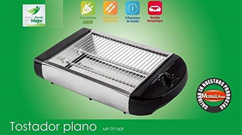 Tostapane piatto elettrica orizzontale 600W Tostapane 2tubi Tostapane di pane 19,5x 25cm