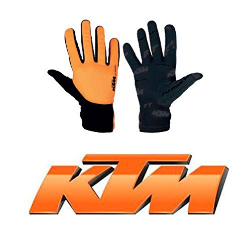 Guanti Mtb Ktm 2016 Factory Team All Season Nero-Arancio (L , Nero)