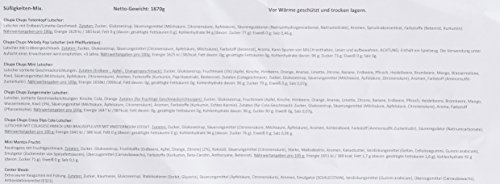 Chupa-Chups-Sigkeiten-Party-Mix-200-Stck-1870-g-nur-Markenware-Klassiker-Spezial-Artikel-Lutscher-Kau-Bonbons-Kaugummis