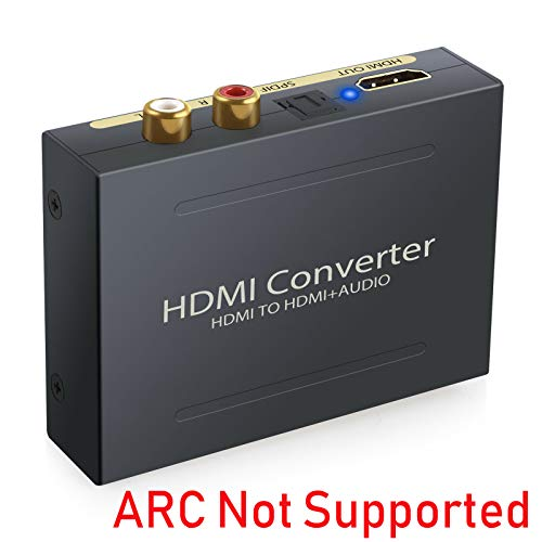 Tobo HDMI Audio Converter HDMI to HDMI + Optical SPDIF/Toslink RCA L/R Audio Extractor-HD Digital to Analog Converter
