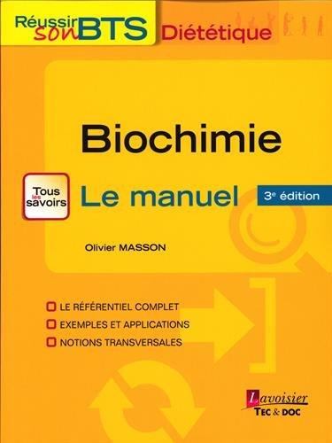 Biochimie : Bases biochimiques de la diététique 22