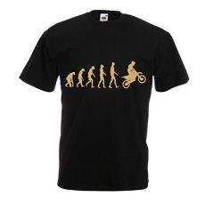 lepni.me Camisetas Hombre Evolución del Motocross, Camisa de La Motocicleta, Desgaste de Las Carreras de Motos, Moto de Carretera