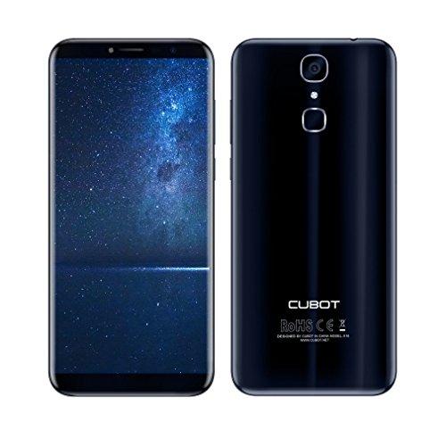Cubot X18 5,7 Zoll Smartphone Android 7.0 4G-LTE Dual SIM Handy ohne Vertrag MTK6737T 1.5GHz Quad Core 3GB RAM 32GB ROM 16MP Sony Kemara, Fingerabdruck, 3200mAh (Dunkelblau)