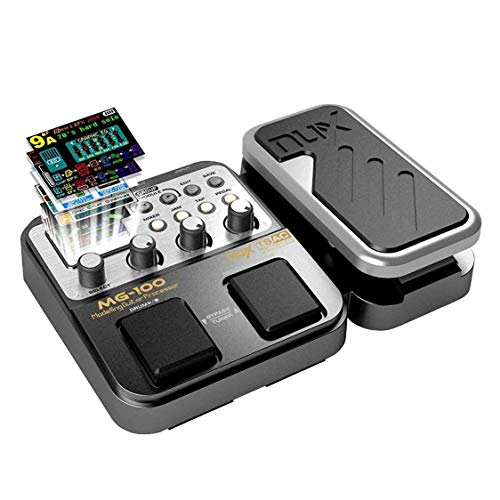 Asmuse Guitar Multi Effect Pedal MG100 Professional Processor with 58 Drum Types 55 Effect Mode 40s Looping 10 Sounds 3 EQ Tuner for Electric Guitar and Bass UK Plug