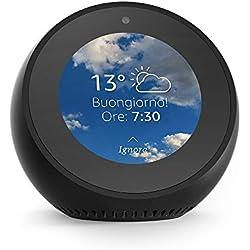 Amazon Echo Spot - Un altoparlante intelligente dotato di schermo, con Alexa - Nero