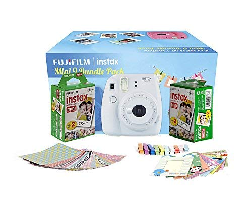 FujiFilm Instax Mini 9 Bundle Pack (Smoky White)