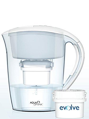Aqua Optima Minerva 2.5L water filter jug with cartridges bundle (white) (4 months of Aqua Optima Evolve 30-Day) (4 cartridges)