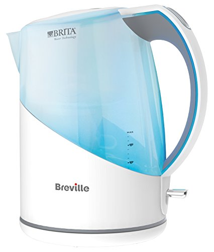 Breville VKJ972 1L water filter kettle bundle (white) (1 month of Brita Maxtra) (1 cartridge) (3000w)