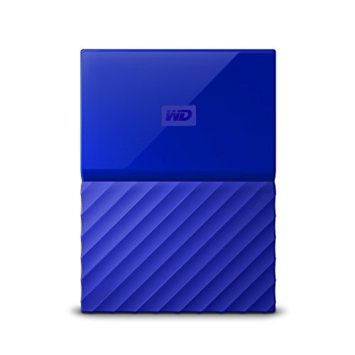 WD 2TB My Passport Hard Disk Esterno Portatile, USB 3.0, Blu - WDBYFT0020BBL-WESN