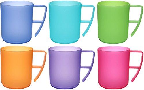idea-station NEO bicchieri plastica 6 pezzi, 350 ml, colorato, riutilizzabili, infrangibili, rigida,...