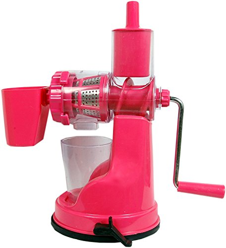 Slings Fruits & Vegetable Juicer With Steel Handle & Waste Collector Multicolor (Improved quality)