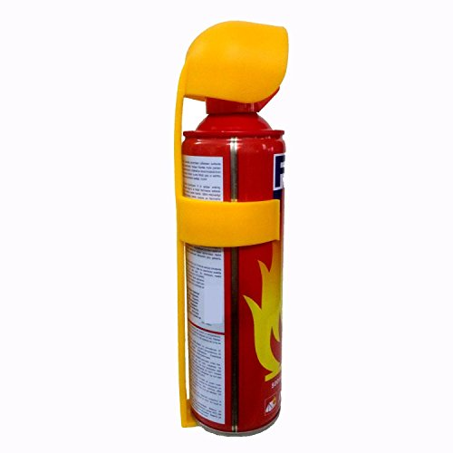 Safe Pro Aluminium Leather Portable Tech Safety Fire Extinguisher with Flame Retardant Fluid (Red, Small) 5