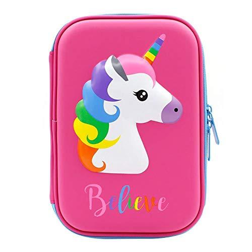 JUNGEN astuccio unicorno scuola EVA borsa di cartoleria astucci per studenti Ragazzo e Ragazza