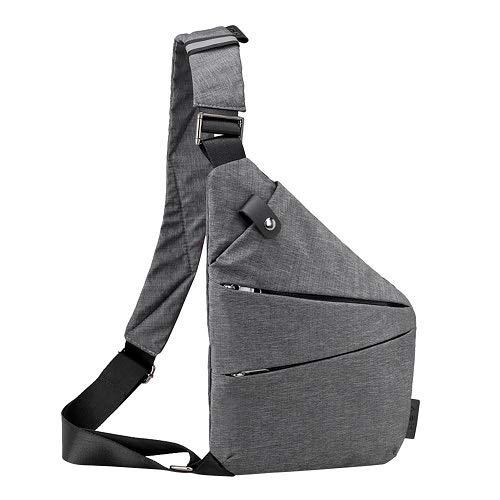 Aeoss Men Women Chest Bag, Travel Business Fino Bag Burglar Proof Shoulder Bag Holster Anti Theft Security Strap Digital Storage