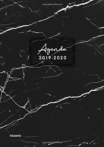 Agenda 2019-2020 italiano: Agenda settimanale 2019 2020 18 mesi, Agenda giormaliera metà anno,...