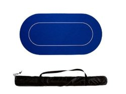 Pokertuch Rubber Blau