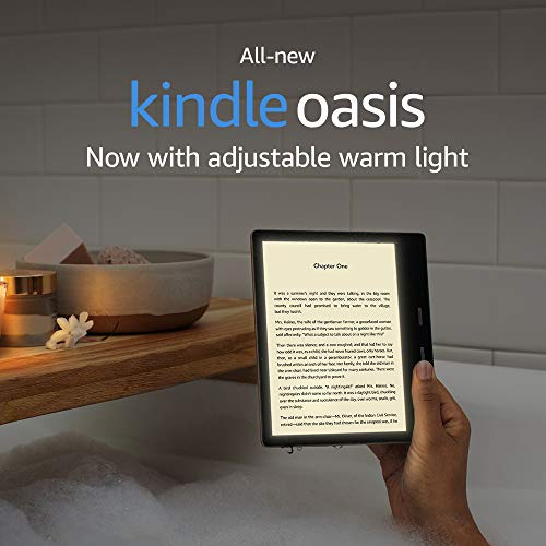 "All-New Kindle Oasis (10th Gen) - Now with adjustable warm light, 7"" Display, Waterproof, 32 GB, WiFi + Free 4G (Graphite) 15"
