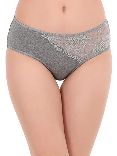 Clovia Women's Cotton Mid Waist Hipster Panty with Lace Panel 4