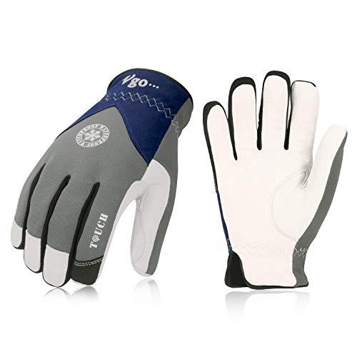 Vgo, 2 paia, circa 0℃, l'interno di 3M Thinsulate C40, guanti invernali, guanti da lavoro uomo,...