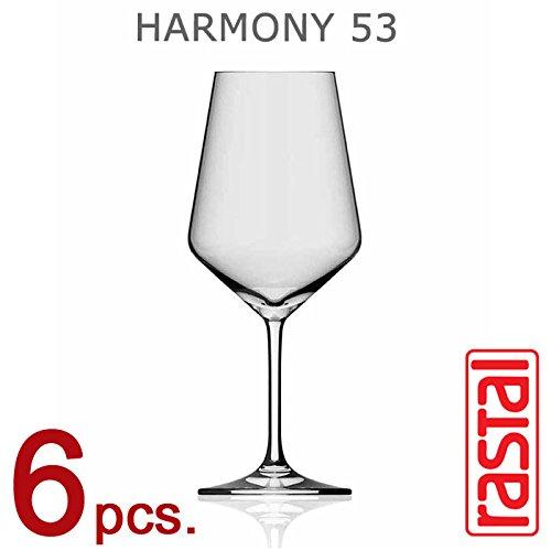 RASTAL, Collezione HARMONY 53 - Set di 6 Calici da degustazione, Capacità 51.2 cl