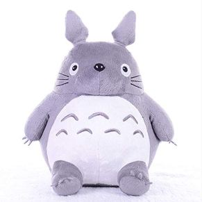 XPY Totoro Plush Doll Plush Animal Toy Throw Pillow Holiday Birthday Kid Girlfriend Gift,Gris,45cm