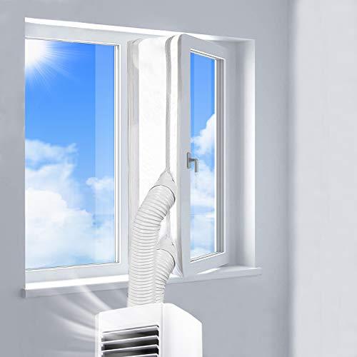 400CM Guarnizione Universale per Finestre per Condizionatore Portatile, Asciugatrice, AirLock Per Tutti Condizionatori Portatili | Hot Air Stop - Facile da Installare, Senza Bisogno Di Perforazioni