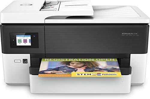 HP OfficeJet Pro 7720 Y0S18A, Stampante Multifunzione a Getto di Inchiostro per Grandi Formati A3 a...