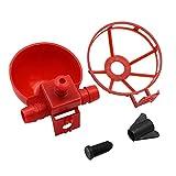 Cuencos automáticos dispensadores de agua y alimento para pájaros y gallinas, rosso